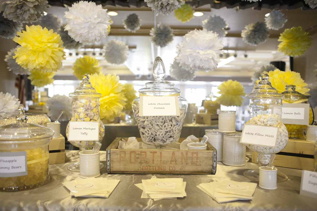 yellow and gray wedding decorations a fresh gray and yellow wedding a affair event 1506