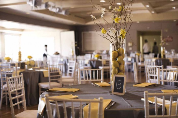 A fresh gray and yellow wedding a good affair event design a we choose to go with white junglespirit Gallery