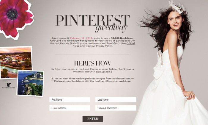 Nordstrom Weddings Pinterest Contest Pin To Win