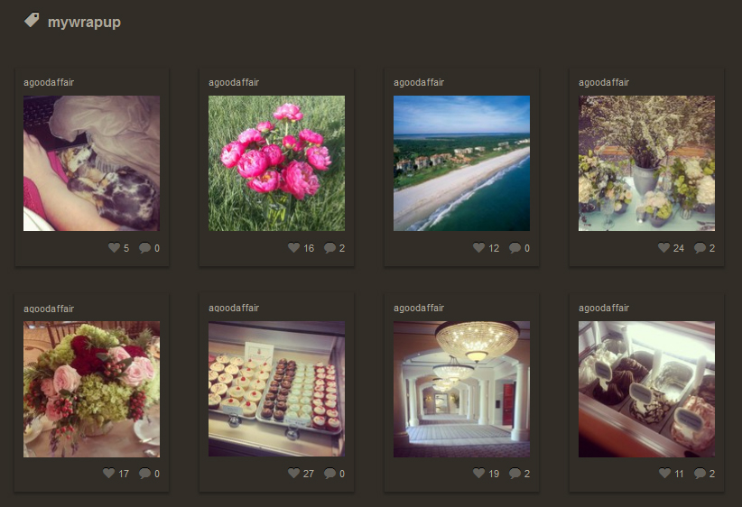 Instagram, MyWrapUp, A Good Affair Wedding & Event Production
