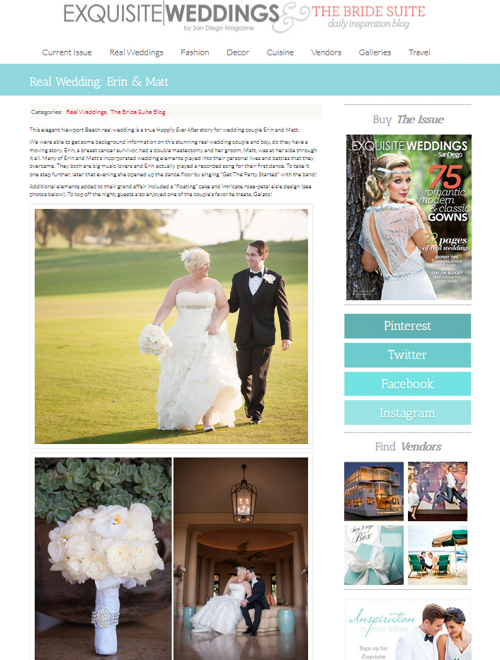 Exquisite Weddings blog, Pelican Hill wedding, A Good Affair Wedding & Event Production