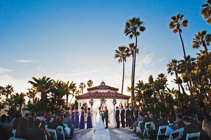 Waterfront beach resort hilton wedding