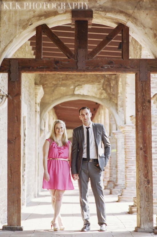 KLK Photography, Mission San Juan Capistrano engagement shoot, A Good Affair Wedding & Event Production