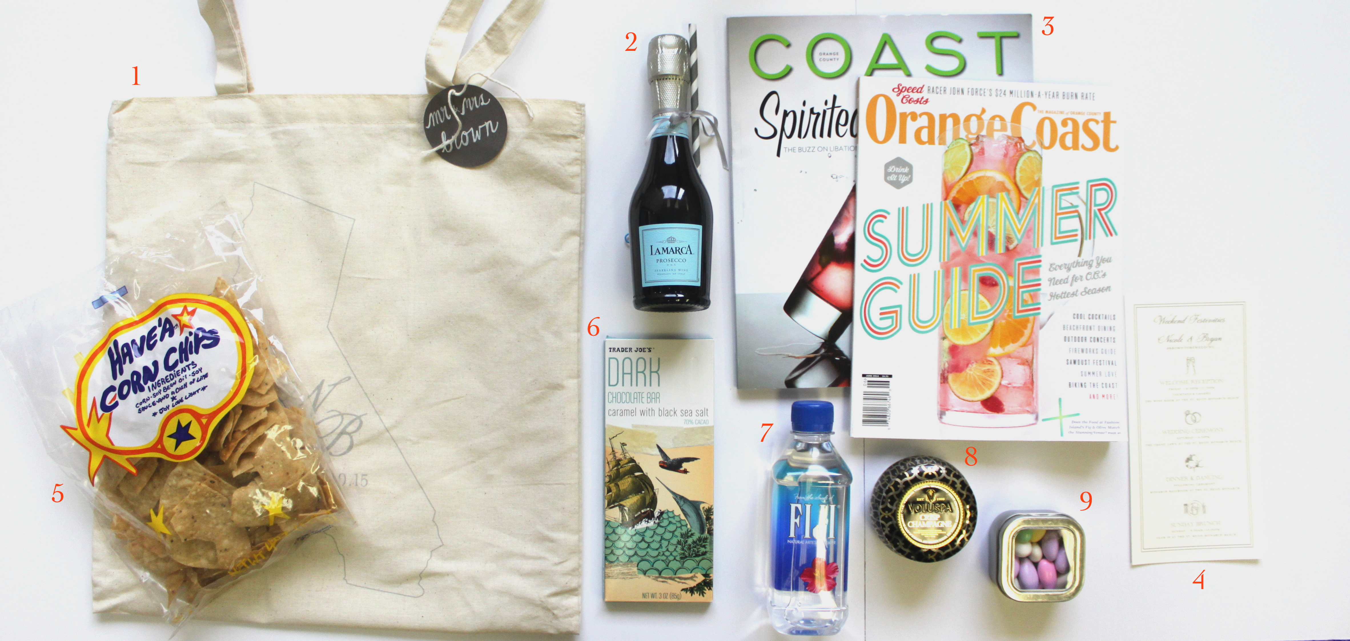 Diy Destination Wedding Gift Bags : Bubbly & Striped Straw. Who doesn t love a little bubbly? Simply ...