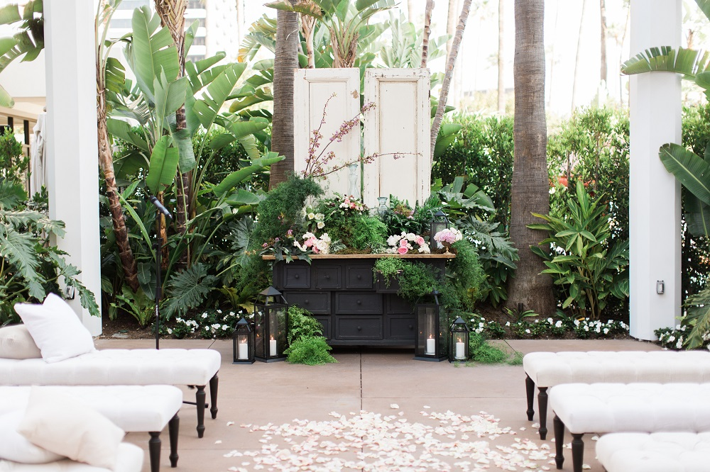 Newport Beach Island Hotel Luxury Wedding Fall Color Inspiration Designer