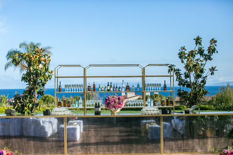 tropical luxury wedding design Terranea bold color inspiration