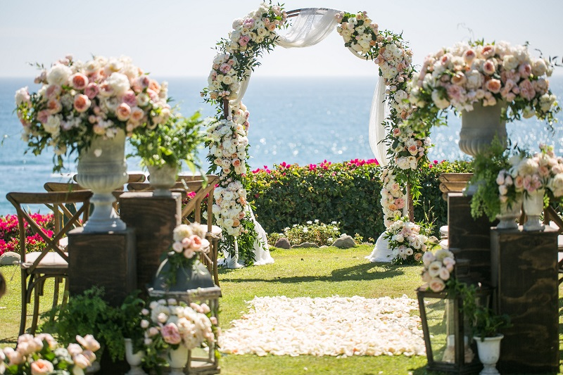 destination wedding oceanfront montage laguna vintage chic