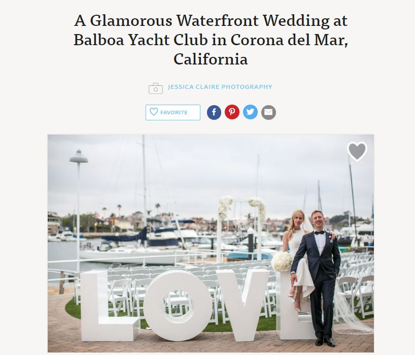Glamorous Modern Luxury Balboa Yacht Club Wedding The Knot