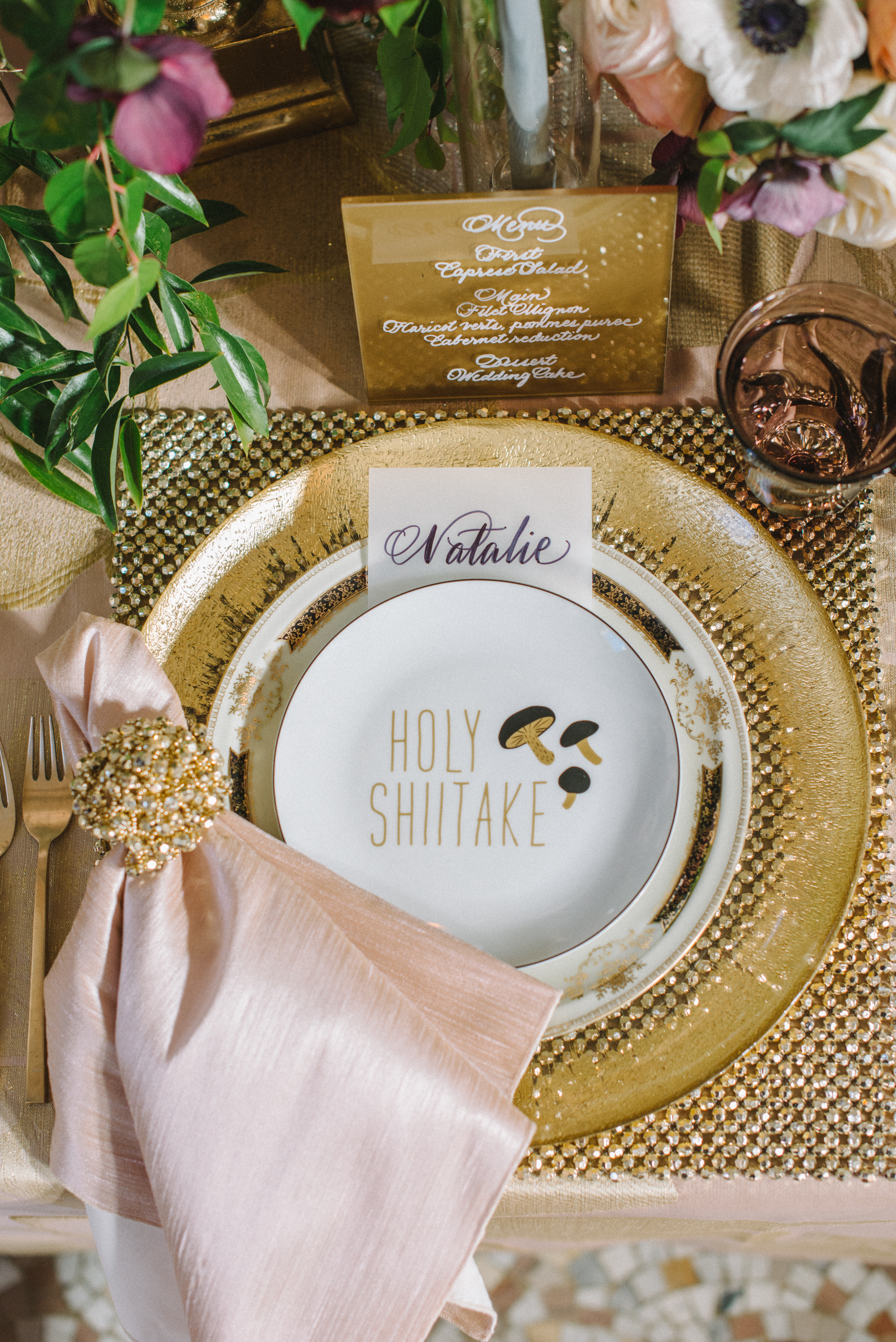 Hibiscus Glitz Tablescape A Good Affair Designs