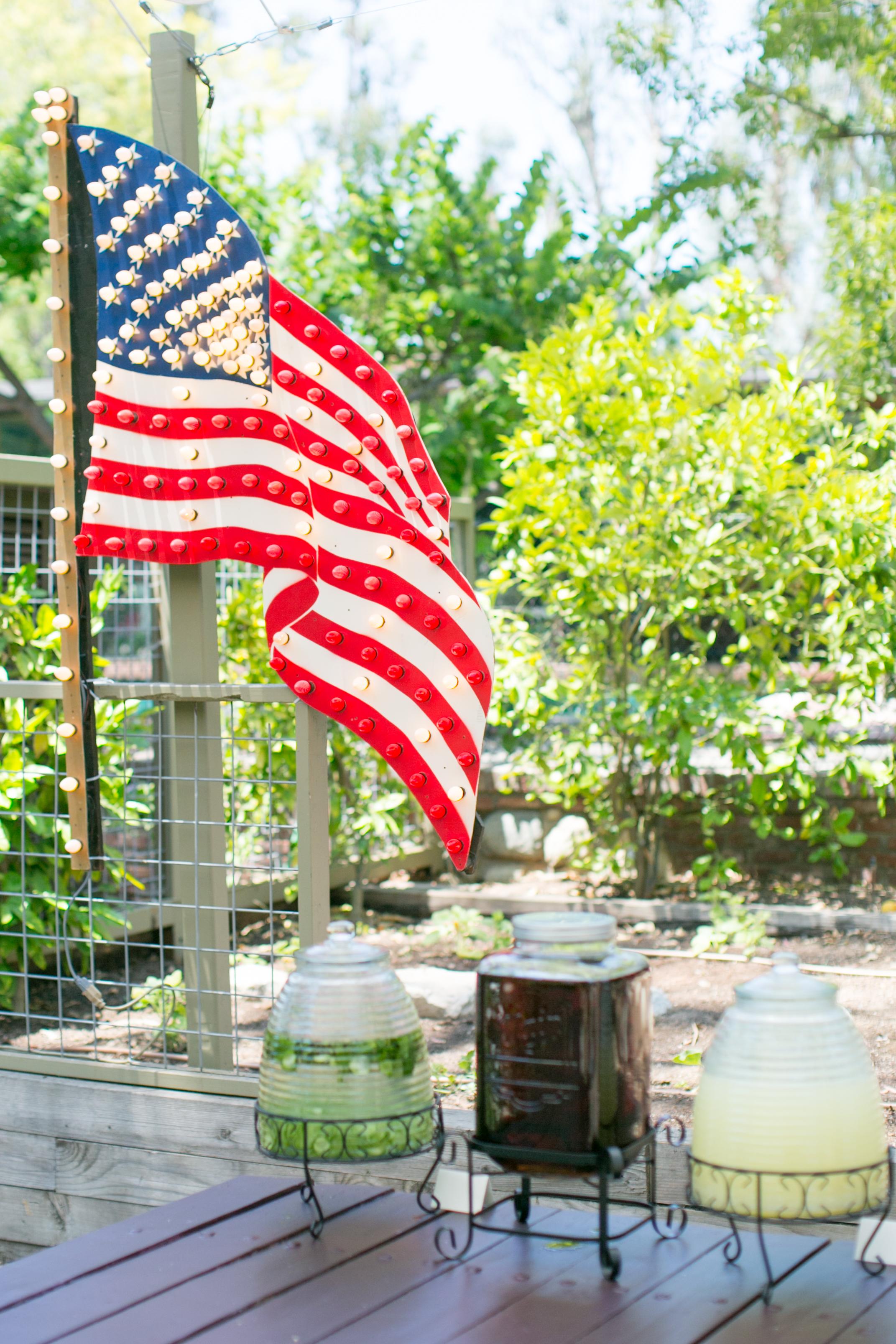 4th of july pasadena wedding patriotic