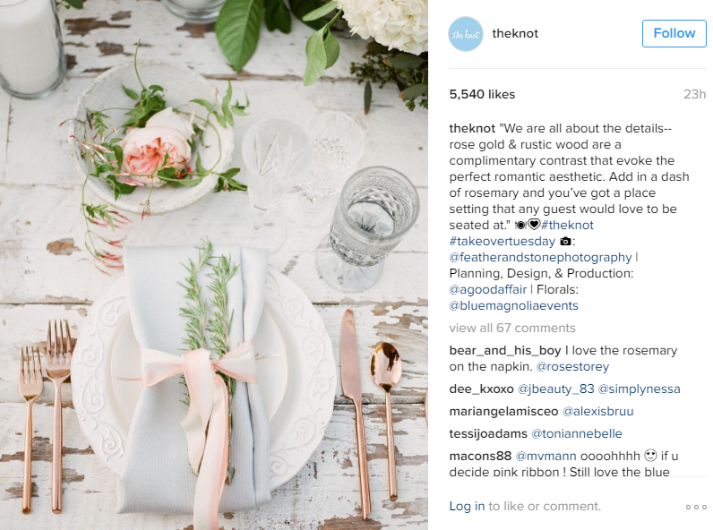 the knot instagram takeover tuesday a good affair