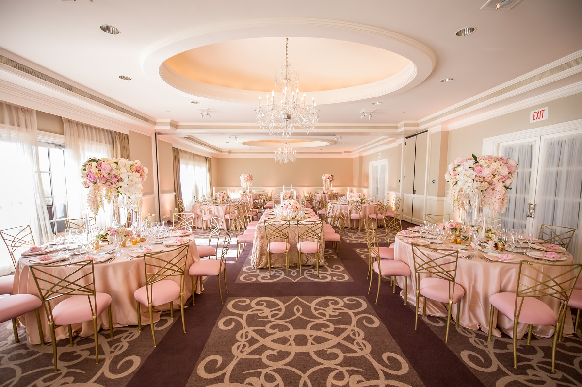 Ritz Carlton Laguna Niguel Wedding blush lace decor
