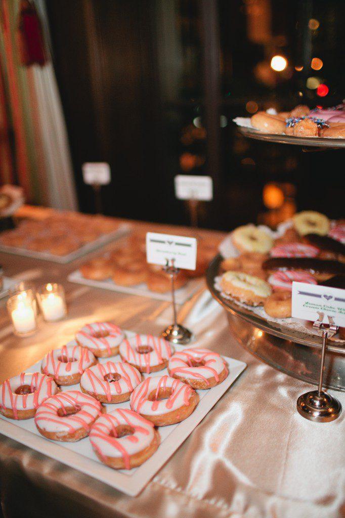 California Club, Downtown Los Angeles wedding, Sarah K Chen Photography, A Good Affair Wedding & Event Production, donut dessert station