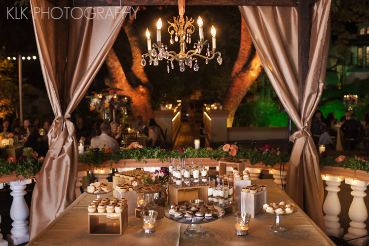 KLK Photography, Rancho Las Lomas Wedding, Dessert Buffet, A Good Affair Wedding & Event Production