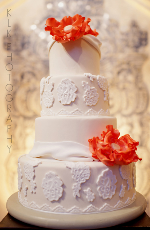 KLK Photography, Rancho Las Lomas Wedding, Simply Sweet Cakery, Lace Wedding Cake, A Good Affair Wedding & Event Production