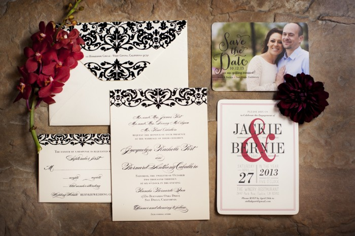 KLK Photography, Rancho Bernardo Inn, A Good Affair Wedding & Event Production, East Six Invitation Design