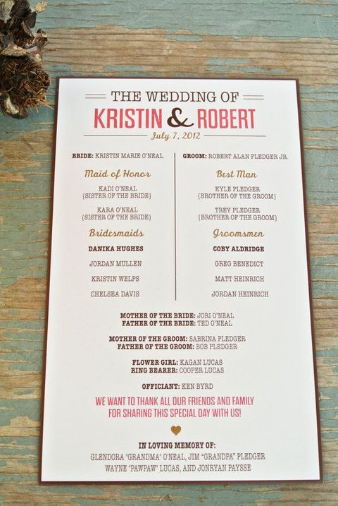 Unique Wedding Programs | Integrate beautiful design and keep your guests entertained as they wait for the ceremony to start! | Friday Fab Find | A Good Affair Wedding & Event Production