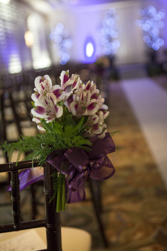 Silver Feather Photography, Purple and Silver Wedding, Hilton Waterfront Beach Resort Huntington Beach, A Good Affair Wedding & Event Production, Cielo Mare Ceremony