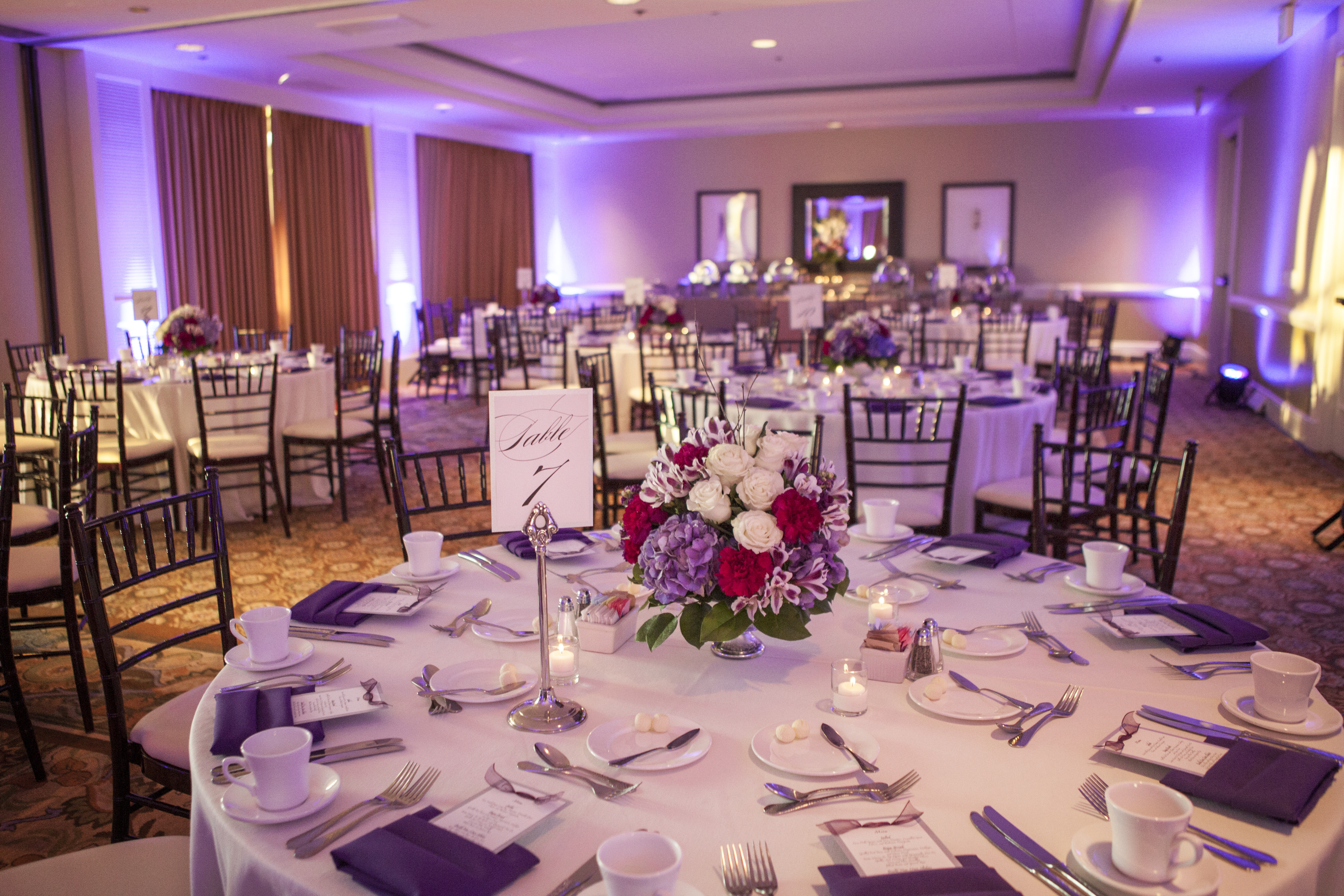 Silver Feather Photography, Purple and Silver Wedding, Hilton Waterfront Beach Resort Huntington Beach, A Good Affair Wedding & Event Production