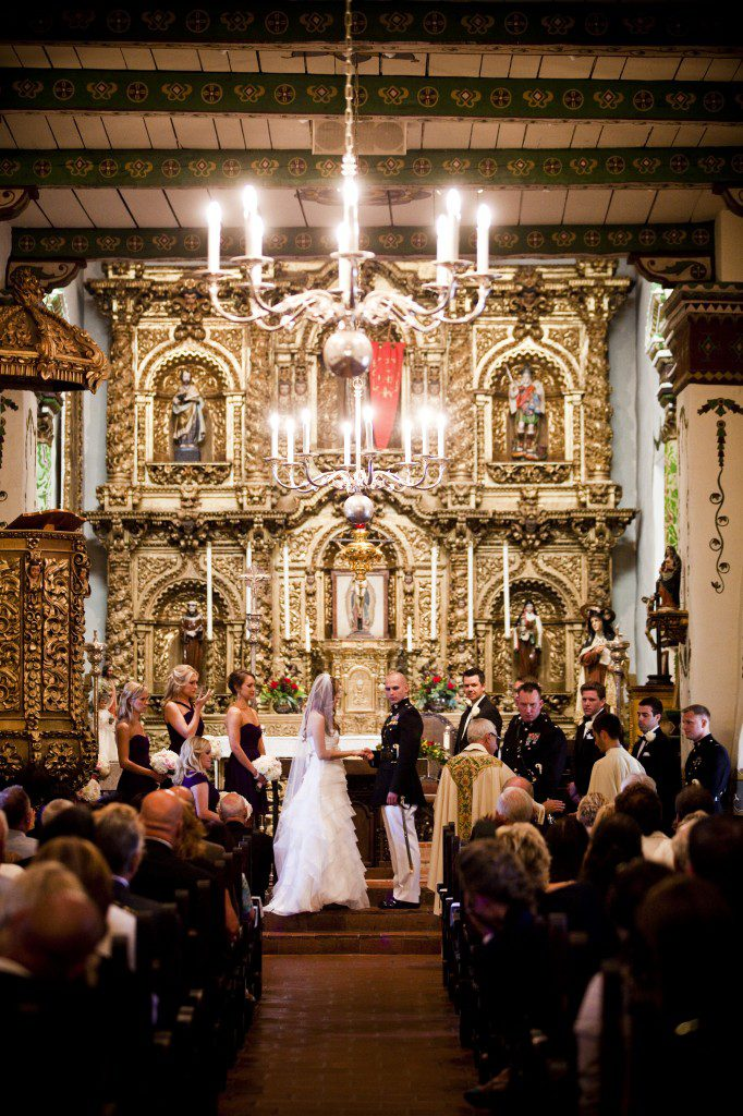 Mission San Juan Capistrano chapel, Capturing Moments, Hyatt Regency Newporter, A Good Affair Wedding & Event Production