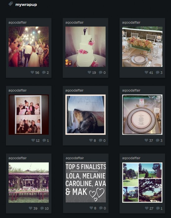 Instagram Wrapup, A Good Affair Wedding & Event Production