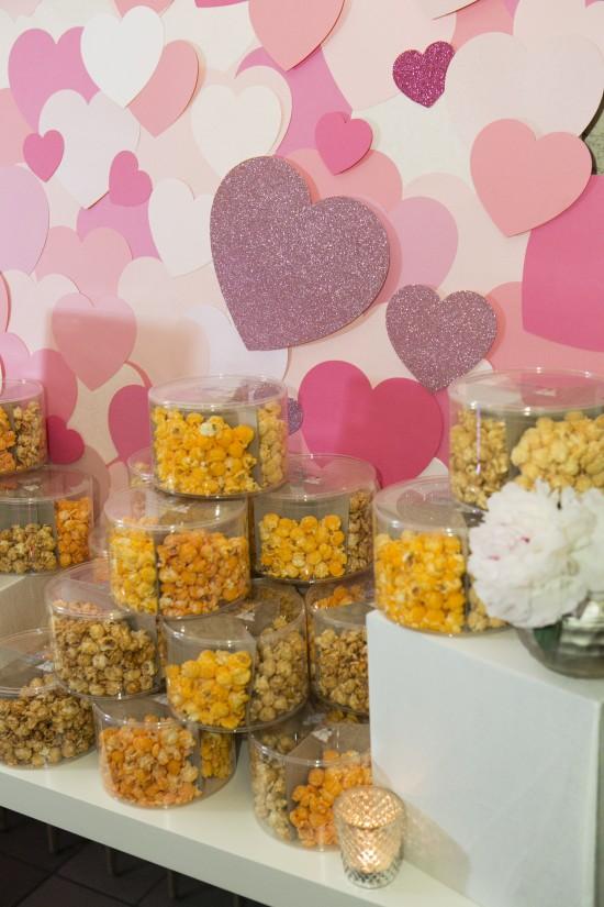 Christine Bentley Photography, A Good Affair Wedding & Event Production, Popcorn Favors, Heart backdrop