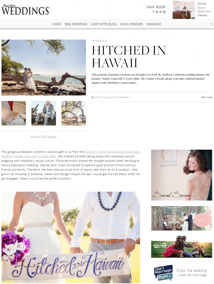 Pacific Wedding, Hitched in Hawaii, Destination Hawaii Wedding, KLK Photography