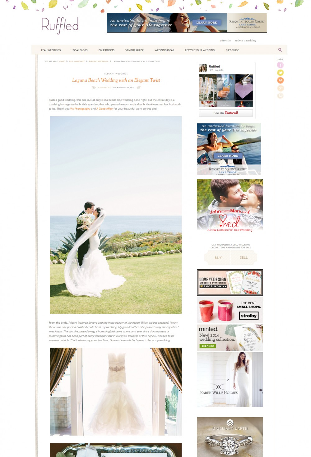 Featured wedding on Ruffled, A Good Affair, Vis Photography