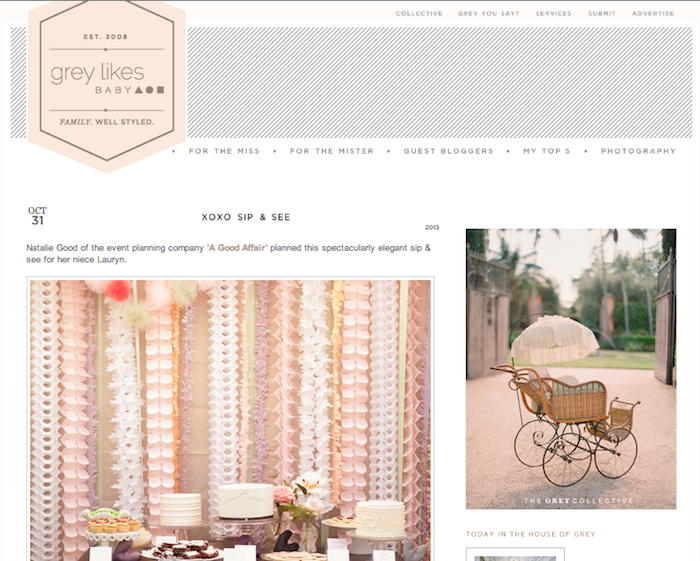 A Good Affair ~ Feature in Grey Likes Baby Blog