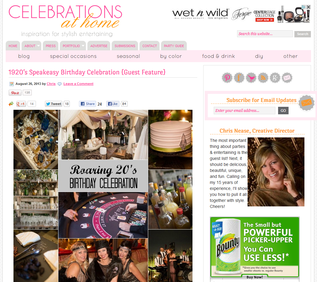 Speakeasy party, Celebrations at home, A Good Affair Wedding & Event Production