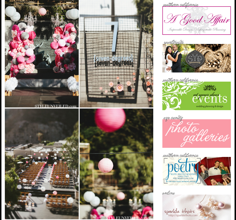 StyleUnveiled pink ombre wedding A Good Affair Wedding & Event Production OC Weddings
