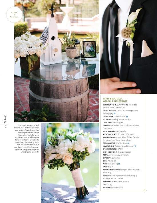 The Knot Magazine feature, Coto de Caza garden wedding, Full Spectrum Photography, A Good Affair Wedding & Event Production