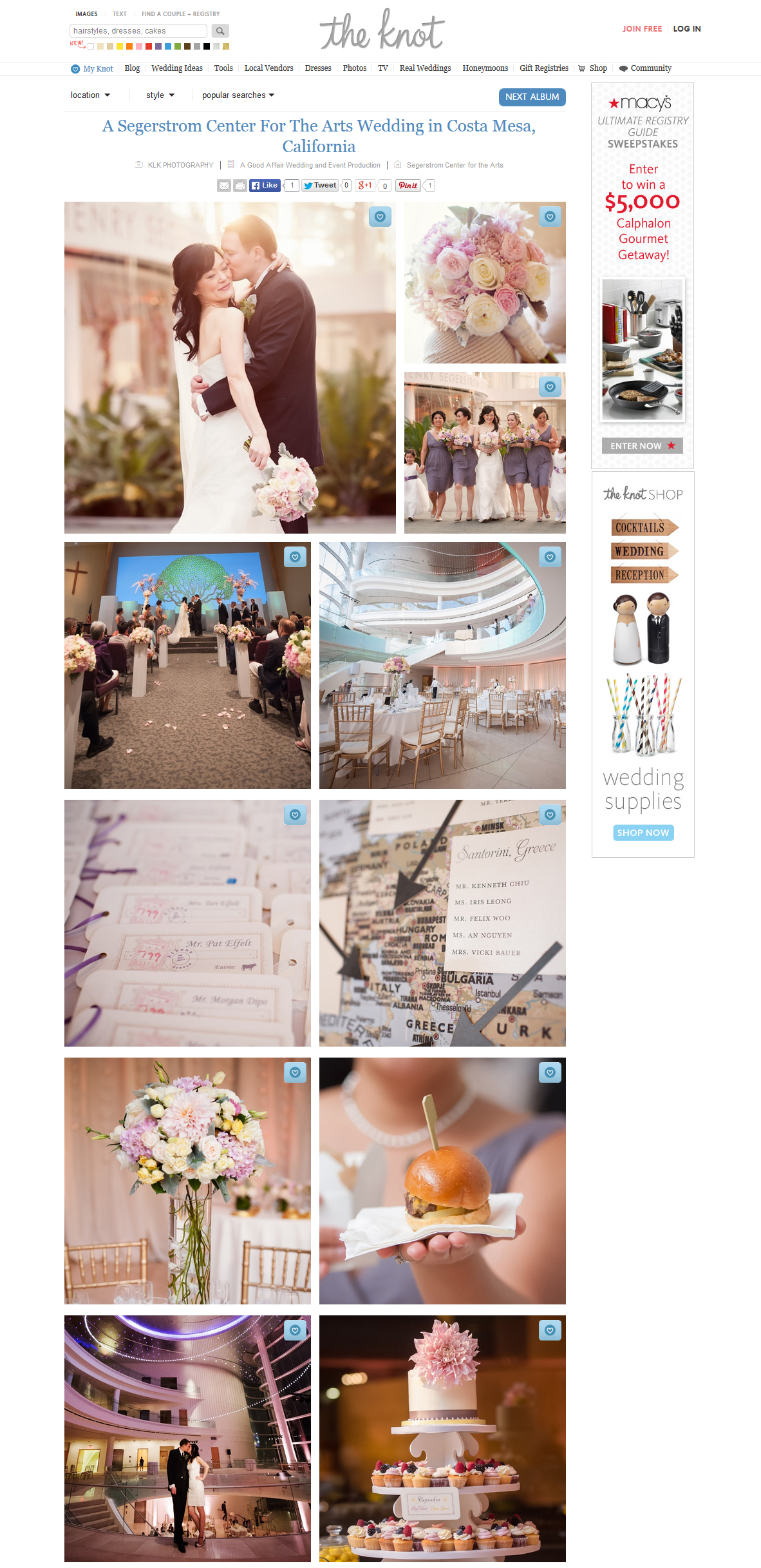 the knot blog segerstrom center wedding